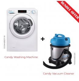 Candy Front Loading Washer Dryer With Vacuum Cleaner CSOW485-TWDC14