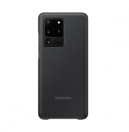 S20 Ultra Clear View Cover Black