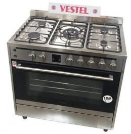 Vestel Gas Cooker Size 90X60 FP96F51X