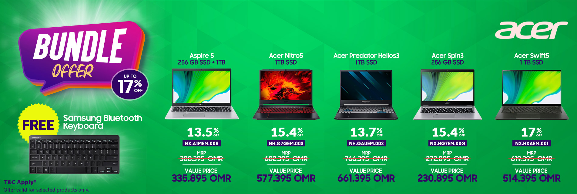 Acer Laptop + BT Keyboard