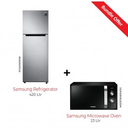 Samsung Refrigerator 420 Ltr with Samsung Microwave Oven 23 Ltr