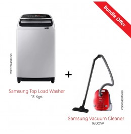 Samsung Top Load Washer 13 Kgs With Samsung Vacuum Cleaner 1600W